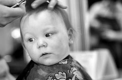 First Haircut Royalty Free Stock Photo