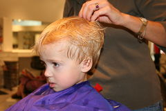 First Haircut Royalty Free Stock Photography