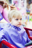 First haircut of little boy Royalty Free Stock Photography