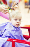 First haircut of little boy Stock Image