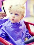 First haircut of little boy Royalty Free Stock Images