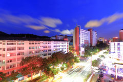 The first high school of xiamen city at twilight Stock Photo