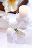 First holy communion. Small present for guests by first holy communion Stock Photos