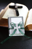 First holy communion. Small present for guests by first holy communion Royalty Free Stock Image