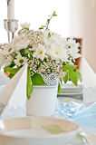 First Holy Communion ceremony table setting royalty free stock images