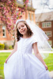 First Holy Communion Girl Stock Image