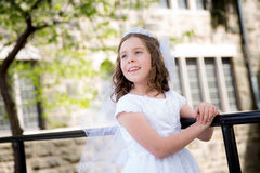 First Holy Communion Girl Stock Photos