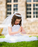 First Holy Communion Girl Royalty Free Stock Image