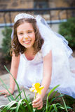 First Holy Communion Girl Stock Images
