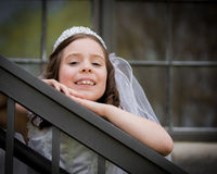 First Holy Communion Girl Royalty Free Stock Images