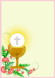 First Holy Communion. Girl in First Holy Communion Illustration Vector Stock Images