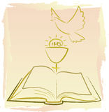 First holy communion -  holy spirit Royalty Free Stock Image
