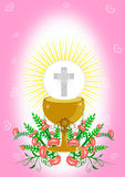 First Holy Communion. Illustration Vector Stock Image