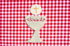 First holy communion invitation card royalty free stock photos
