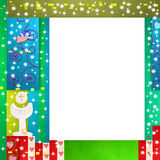 First Holy Communion photo frame Royalty Free Stock Photography