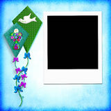 First Holy communion photo frame Royalty Free Stock Image
