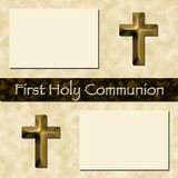 First Holy Communion Scrapbook Page. For digital or realtime use. 12 by 12 Stock Photos