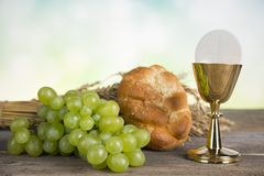 First Holy Communion. Symbol christianity religion, Communion background Royalty Free Stock Photography