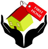 First home. A illustration of buying first home image Stock Image