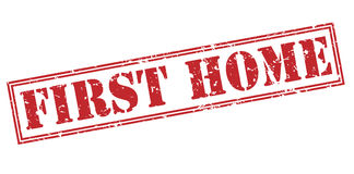 First home red stamp. On white background Stock Photography