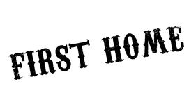 First Home rubber stamp. Grunge design with dust scratches. Effects can be easily removed for a clean, crisp look. Color is easily changed Royalty Free Stock Photos