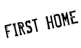 First Home rubber stamp Royalty Free Stock Photos