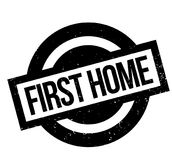 First Home rubber stamp Royalty Free Stock Image