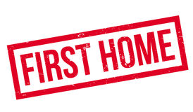 First Home rubber stamp Stock Photography
