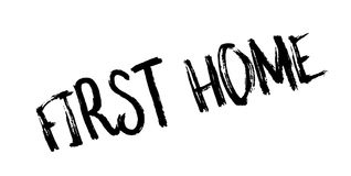 First Home rubber stamp Royalty Free Stock Photo