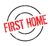 First Home rubber stamp Stock Images