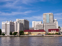 The first hospital in Thailand under blue sky. Siriraj hospital, the first and major hospital and medical school in Thailand, landmark view in Bangkok, under Stock Photography