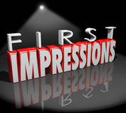 First Impressions Spotlight Introduction Debut Meeting New People Royalty Free Stock Photography