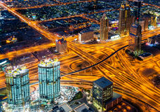 First Interchange on Sheikh Zayed Road Royalty Free Stock Photo