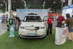 First International Trade Show of Electric Vehicles Plug-In Ukraine in Kiev Royalty Free Stock Photo