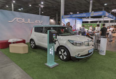 First International Trade Show of Electric Vehicles Plug-In Ukraine in Kiev Stock Images