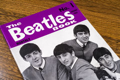 First Issue of the Beatles Monthly Book 1963. LONDON, UK - JANUARY 4TH 2017: Close-up shot of The first issue of The Beatles Monthly Book, issued in August 1963 Royalty Free Stock Images