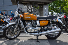 The first Japanese motorcycle with a liquid-cooled engine Suzuki GT750 Stock Photos