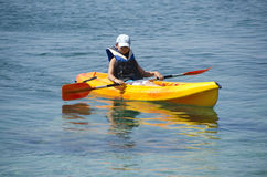 First kayaking lessons Royalty Free Stock Images