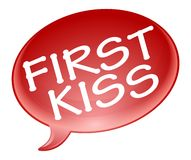 First kiss bubble Royalty Free Stock Image
