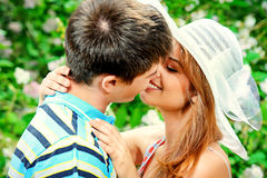 First kiss Royalty Free Stock Images