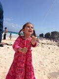 First kite flying on Horseshoe Bay, Bermuda Royalty Free Stock Photo