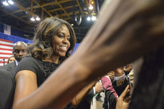First lady Michelle Obama Stock Photography