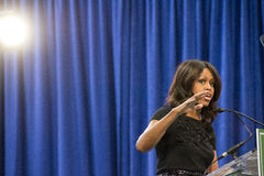 First lady Michelle Obama delivers a speech Royalty Free Stock Photos
