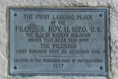 First landing spot of the Pilgrims, Provincetown, Cape Cod, Massachusetts Stock Photos