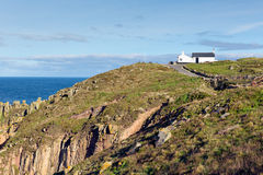 First and last house Land`s End Cornwall UK the most westerly point of England on the Penwith peninsula Royalty Free Stock Images