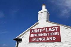 First & Last Refreshment House in England. The First and Last Refreshment House in England - located at Land's End in Cornwall Stock Images