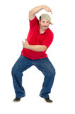It is a first lesson hip-hop dance. Of middle aged man Stock Photo