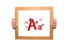 First letter of alphabet A and a Stock Images