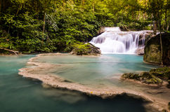 The first level of Erawan Fall Stock Photography