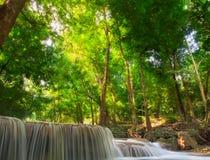 First levelof Erawan Waterfall Stock Image